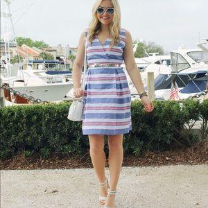 Vineyard Vines Chambray Stripe Dress